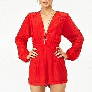 Southstore Red shorts Romper size Medium